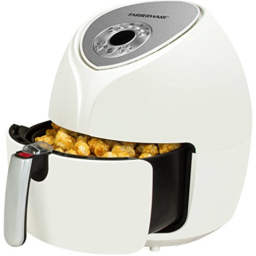 5L Fast Cooking Digital Temperature Control Air Fryer with Large Basket Holder, White For Sale