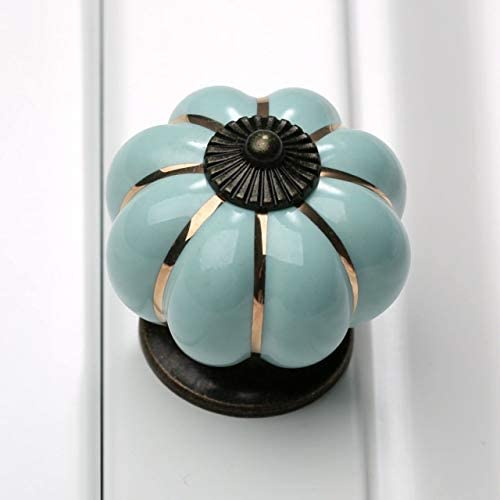 Color : E BOJI 1Pc 40mm Pumpkin Ceramic Door Knobs Cabinet Knobs And Handles For Furniture Drawer Cupboard Kitchen Pull Handle Home Decor