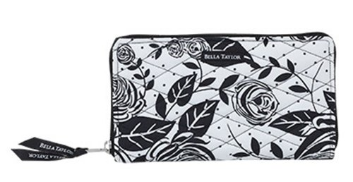 Bella Taylor Rose Pop Zip to It Quilted Wallet ()