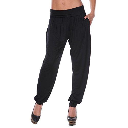 White Mark Women's Bohemian Harem Pants in Black - 3XL from White Mark