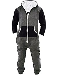 Men s Unisex Onesie Jumpsuit One Piece Non Footed Pajama Playsuit b9b542499