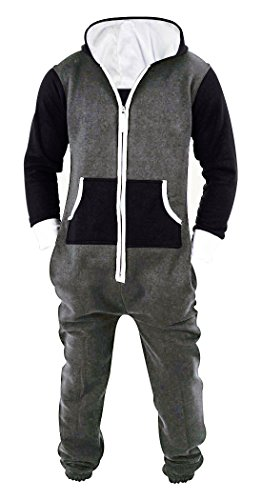 SKYLINEWEARS Men's Unisex Onesie Jumpsuit One Piece Non Footed Pajama Playsuit Char-Black L]()