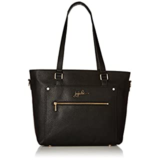 JuJuBe Everyday Tote Vegan Leather Travel Bag, Ever Collection - Noir