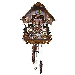 13 Quartz Cuckoo Clock with Tudor Style House