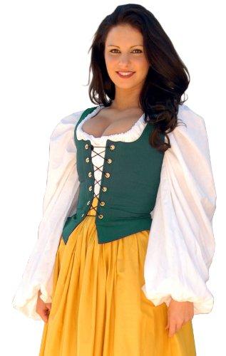 Bodice Twill - Sofi's Stitches Renaissance Twill Bodice Women's Costume (36-38 inches, Hunter Green)