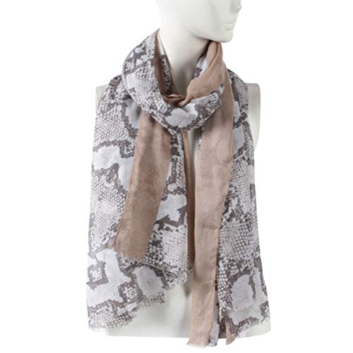 WAMSOFT Fashion Scarf, Light Soft Neck Scarf Long Stylish Pashmina Scarf Shawl Wrap for Daily Wear(Brown, One Size)