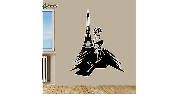 Tatuajes de Pared Mujer Decoración de la habitación en París Torre ...