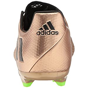 adidas Men's Messi 16.2 Firm Ground Cleats Soccer Shoe, Copper Metallic/Black/Solar Green, (7.5 M US)