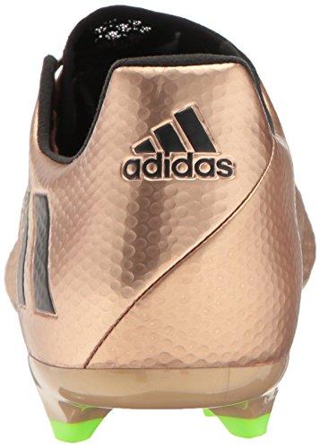 Adidas Originali Mens Messi 16.2 Tacchetti Da Terra Ferma Scarpe Calcio Rame Metallico / Nero / Verde Solare