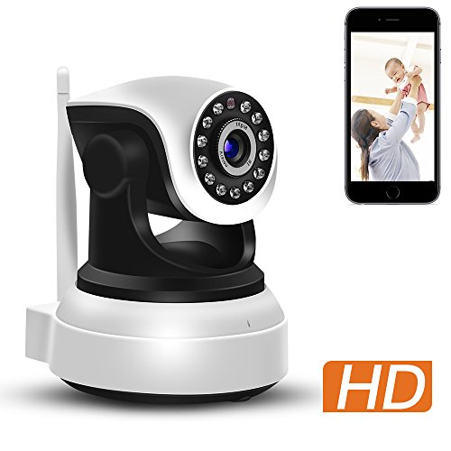 ABAI Wifi IP Camera 720P Wireless Security Camera Home Surveillance System with Night Vision Baby Pet Monitor Motion Detection Play Two Way Audio Pan/Tilt/Zoom