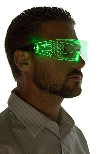 Rock these glowing futuristic glasses at a club, bar, party, concert or rave.Want to stand out from the crowd?It's the perfect ice breaker for singles. Regardless of where you are you'll be getting tons of attention from others who are curious about ...