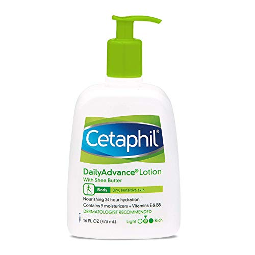 Cetaphil DailyAdvance Ultra Hydrating Lotion for Dry/Sensitive Skin 16 oz (Pack of 2) (Best Lotion For Dry And Sensitive Skin)