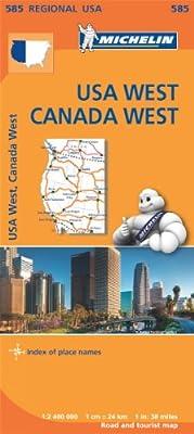 USA West Map (Michelin Regional Map)
