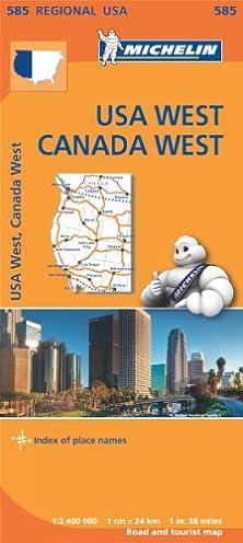 Western us road map