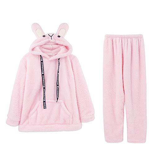 Manga Terciopelo Cálido Mujer Para 2 Conjunto Invierno Pijama Otoño Baijuxing E Piezas Suave De Coral Franela Xxl Larga wpXSOvq