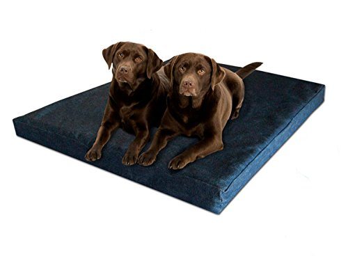 Pet Support Systems Washable Orthopedic Memory Foam Dog Bed, XX-Large, 55-Inch x 37-Inch x 4-Inch, Blue Denim by Pet Support Systems
