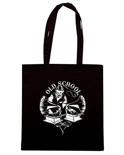 T-Shirtshock - Bolsa para la compra FUN0060 03 25 2013 Old Timey School T SHIRT det Negro