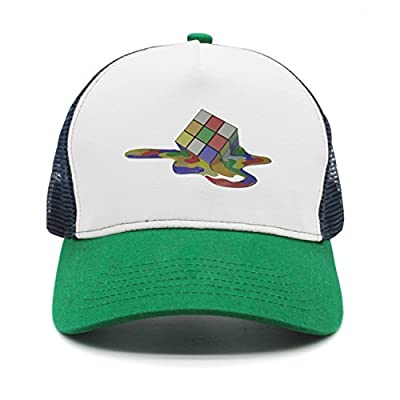 Cartoon Colorful Rubik Cube Fashion Mesh Cap Peak Cap Trucker Hat