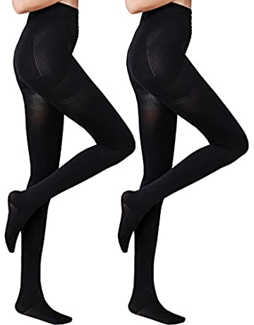 da2e01d6e59d 2 Pairs Women Winter Thick Warm Fleece Lined Thermal Stretchy Pantyhose  Tights