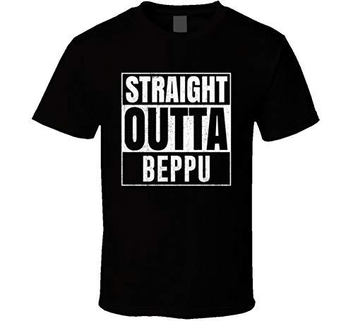 (Straight Outta Beppu Japan City Grunge Parody Cool T Shirt S Black)