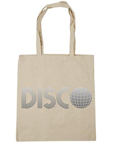 HippoWarehouse Disco bolsa de la compra bolsa de playa 42cm x38cm, 10litros Natural