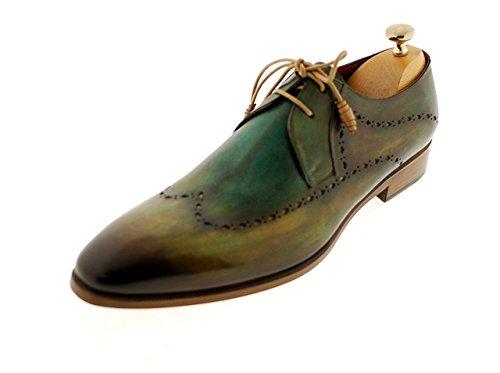 - Oscar William Ryan Men's Luxury Classic Handmade Leather Shoes-11 Green