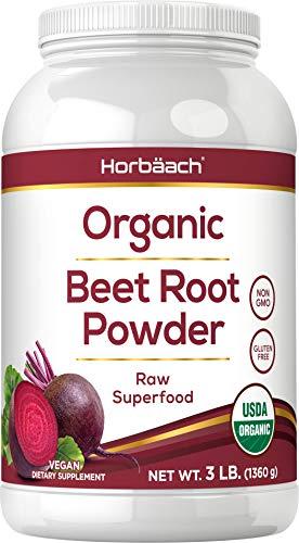 Organic Beet Root Powder   3lb Bulk Supplement   Raw Superfood   Vegan, Non-GMO, and Gluten Free Formula   by Horbaach