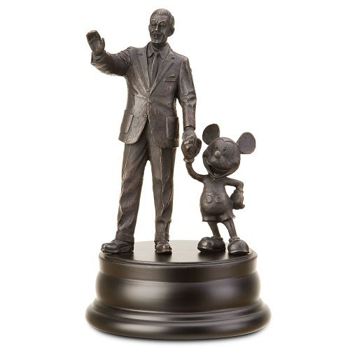 (Mickey Mouse and Walt Disney bronze statue)