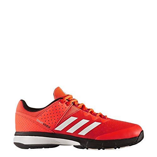 adidas Court Stabil, Zapatillas de Balonmano para Hombre Rojo (Solar Red/ftwr White/energy )