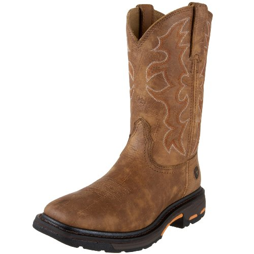 - Ariat Men's Workhog Wide Square Toe Work Boot, Rugged Bark, 9 2E US