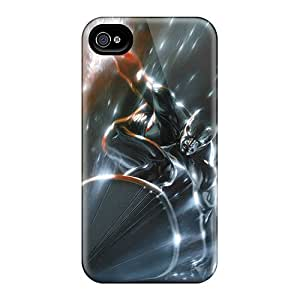 Premium MdhCC5592iaqGx Case With Scratch-resistant/ Silver Surfer I4 Case Cover For Iphone 4/4s