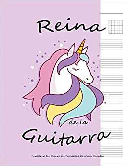 Reina De La Guitarra Cuaderno En Blanco De Tablatura Con Seis ...