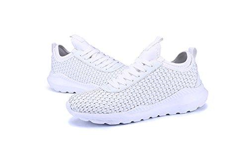 Zapatillas Verano Tejidas 35 white de Gran 46 XIE de Respirables Ocasionales Zapatos Tamaño de de Ligero Deporte Moda Transpirables Parejas TS7nx1xY