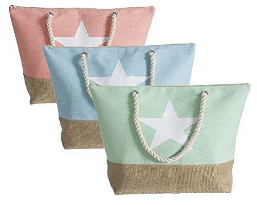 Bolso de mujer moderno diseño estrellas verano colores con cremallera Verde