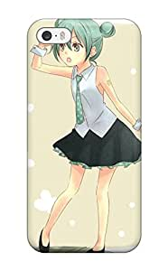 Fashionable VQFtSvp7106bGKCc Iphone 5c Case Cover For Tattoos Vocaloid Hatsune Miku Ties Shoes Greenshirts Open Mouth Cuffs Brown Protective Case