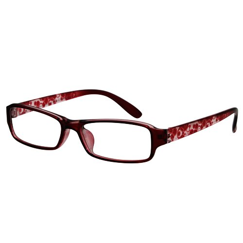 EyeBuyExpress Rectangle Burgundy Reading Glasses Magnification Strength - Glasses 4.5 Reading