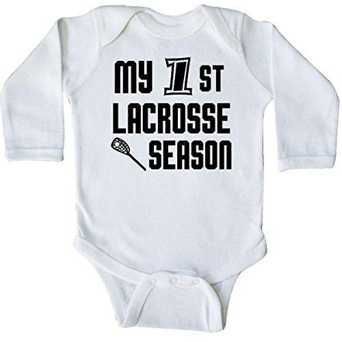 inktastic My 1st Lacrosse Season Prolonged Sleeve Creeper Newborn White