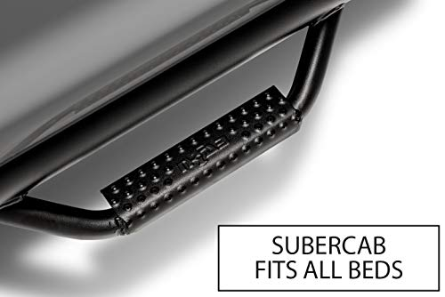 N-FAB F0973QC-TX Textured Black Nerf Step; Cab Length Ford F150 / Raptor / Lobo SuperCab All Beds 09-14