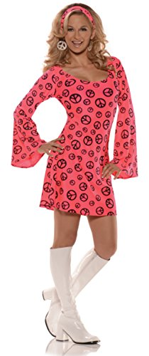 Women's Retro Hippie GoGo Costume - Love