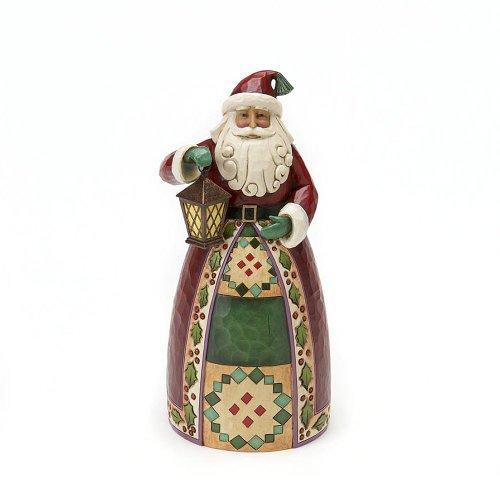 Enesco Jim Shore Heartwood Creek Santa Classic Santa with Lantern Figurine 9-Inch