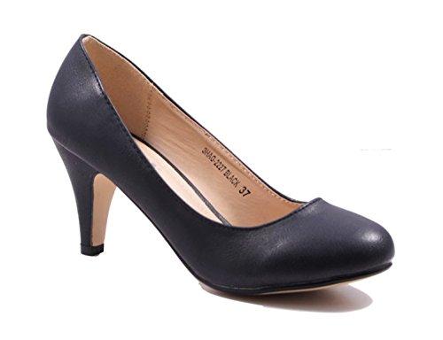 Klassische Damen Pumps Stilettos Abend Schuhe Party Hochzeit 27 Schwarz