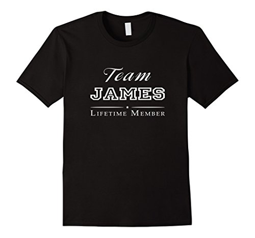 James Team Color (Team James Lifetime Member Personalized Surname T-shirt)