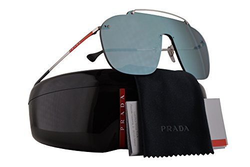 Prada PS51TS Sunglasses Silver w/Grey Blue Gradient Mirror Lens 37mm 1BC129 SPS51T PS 51TS SPS - Glasses Gomez Sun Selena