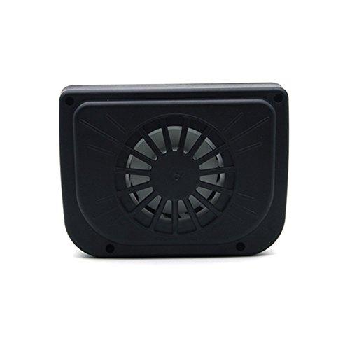 (Bingirl 0.8W Solar Powered Car Auto Cooler Ventilation Fan Automobile Air Vent Exhaust Heat Fan with Rubber Strip)