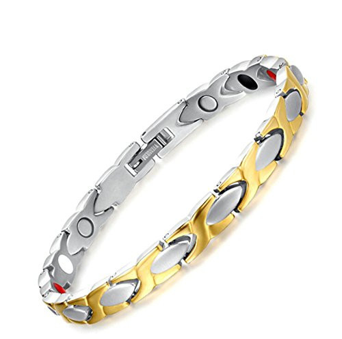Two Tone Gold Jewelry Clasp Magnetic Energy Bracelet - 5