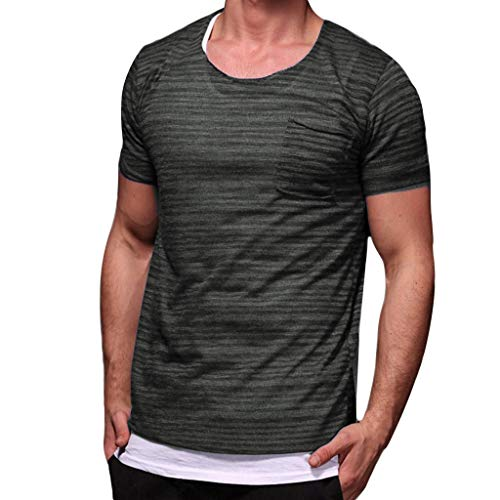 iYBUIA Men's Summer Henley Cotton Casual Short Sleeve Solid Color Lightweight Basic Breathable Blouse T-Shirts Army -