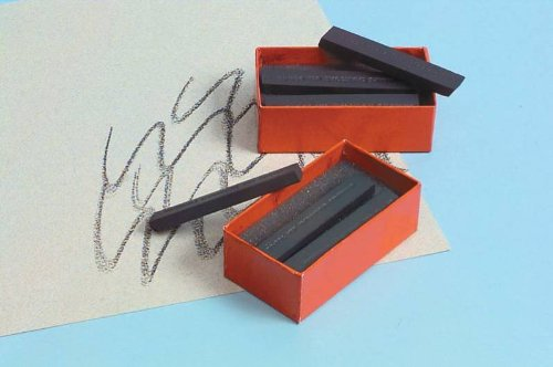 General Pencil Compressed Charcoal- Box of Six Soft Rectangular 6B Sticks by General Pencil