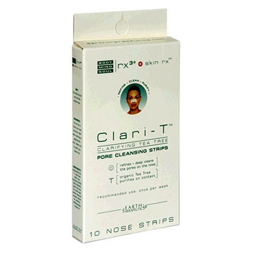 Earth Therapeutics Clari-T Pore Cleaning Strips, Clarifying Tea Tree, 10 strips (Pack of 3) AB-74283