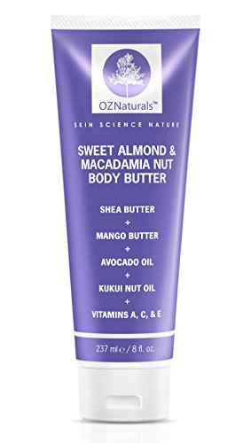 OZNaturals Body Butter, Sweet Almond and Macadamia Nut, 8 oz