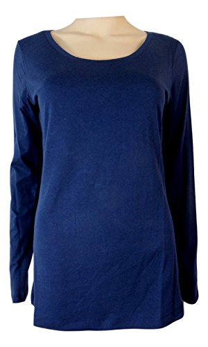 Strawberry Hill Cottage - Camiseta de manga larga - Básico - para mujer azul marino